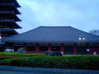 五重塔の横の建物