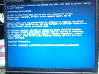 Windows XP:ブルースクリーン2