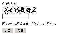 CAPTCHA認証2