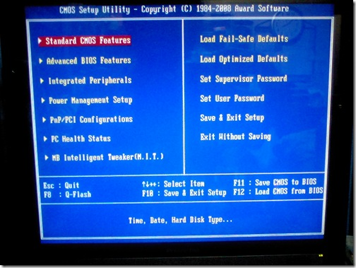 BIOS:CMOS Setup Utility