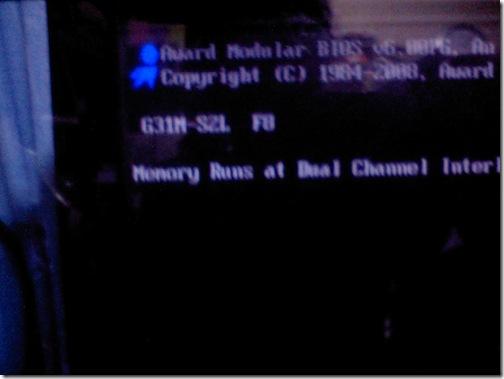 CA350402 GIGABYTEのマザーボードG31M S2LのBIOSを@BIOSでF6からF8にアップデートしてみた。